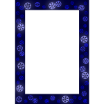 Decorative frame in blue color