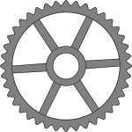 Fourthy-tooth cogwheel