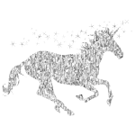 Gemstone Magical Unicorn Silhouette