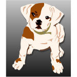 Bulldog puppy vector illustration