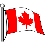 Canada Flag - Flying