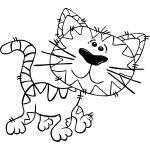 G Cartoon Cat Walking 1