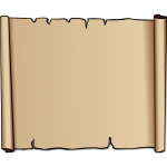 Vector illustration of brown calfskin parchment