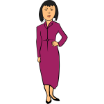 Woman in a purple dress vector graphics