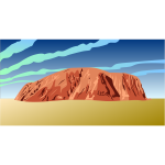 Ayers Rock vector drawing