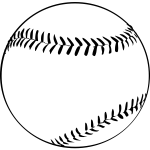 Vector image of baseball ball