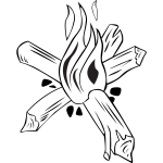 Small campfires vector drawing