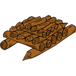 Wood ready for campfire vector graphics