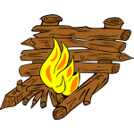 Large campfire vector illustration