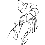 Crawfish vector graphics