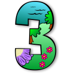 Number 3 vector graphics