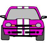 Vehicle front view vector