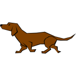 Simple color vector drawing of a dog