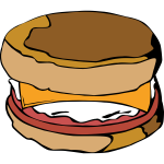 McMuffin vector illustration
