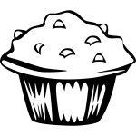 Vector clip art of blueberry muffin