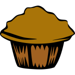 Vector illustration of muffin
