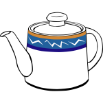 Tea pot vector graphics