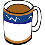 Tea or coffee cup vector