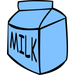 Milk box container vector