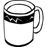 Coffee or tea cup vector graphics
