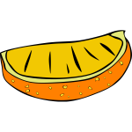 Sliced orange vector drawing