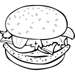 A fast food chicken hamburger vector illustration