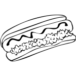 Hot dog vector drawing