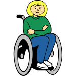 Girl in wheelchair vector image