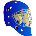Hockey goalkeeper mask vector