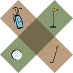 Vector image of golf decoration