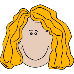 Smiling blond woman vector