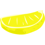 Sliced lime vector clip art