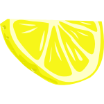 Sliced lemon vector clip art