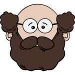 Vector image of a man with beard