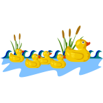 Rubber duck family vector drawing