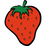 Vector clip art of strawberry