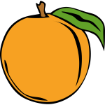 Peach fruit vector clip art