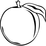 Peach vector clip art