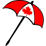 Canadian flag umbrella vector illustration