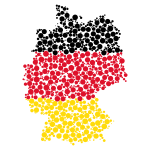 Map of Germany with dots