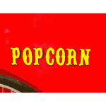 Popcorn sign vector drawing