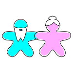 Vector drawing of gingerbread figures