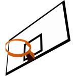 Color vector image of basketball rim