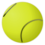 Vector image of tennis ball