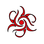 Vector graphics of swirling fire