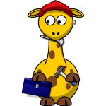 Giraffe with tollbox