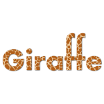 Giraffe Typography With Drop Shadow
