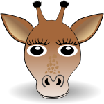Cute giraffe head vector illustration