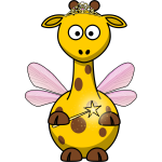 Vector clip art of fairy giraffe