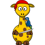 Vector image of pirate giraffe